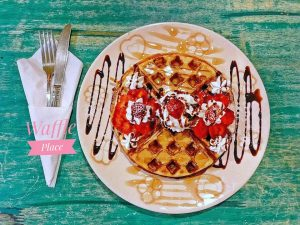 tổ ong nướng waffle