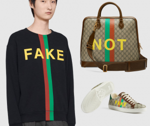 Bộ sưu tập Gucci Fake Not