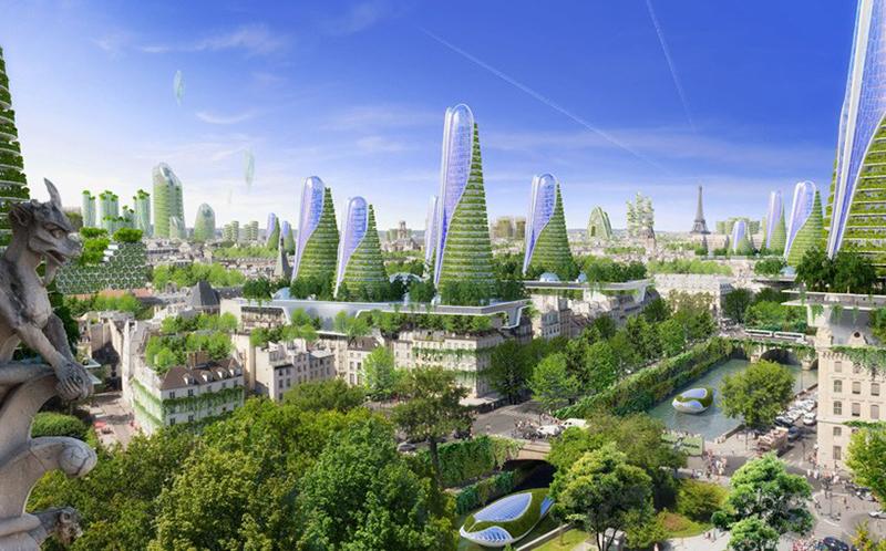 background thành phố đẹp hiện đại cây xanh
