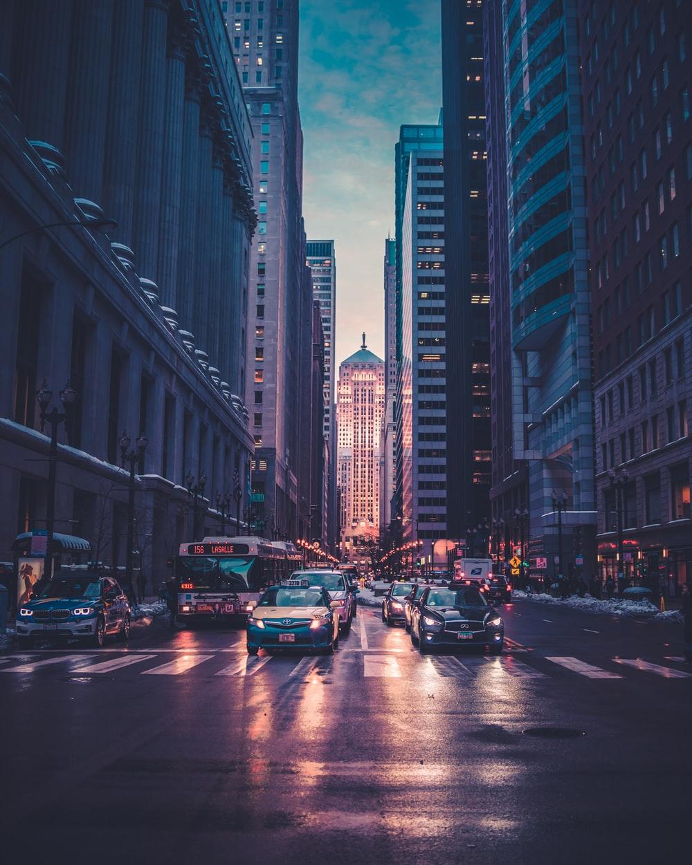background thành phố đẹp hiện đại cho zalo