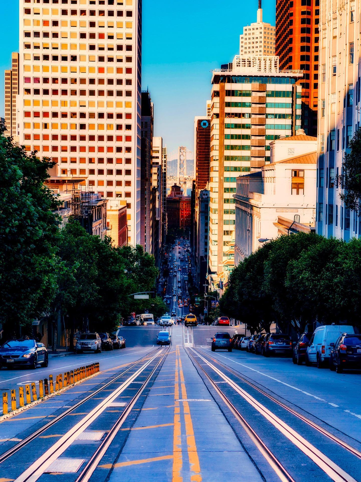 background thành phố đẹp hiện đại hối hả