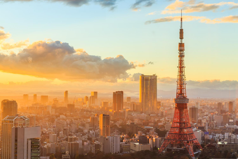 background thành phố đẹp hiện đại lúc hoàng hôn