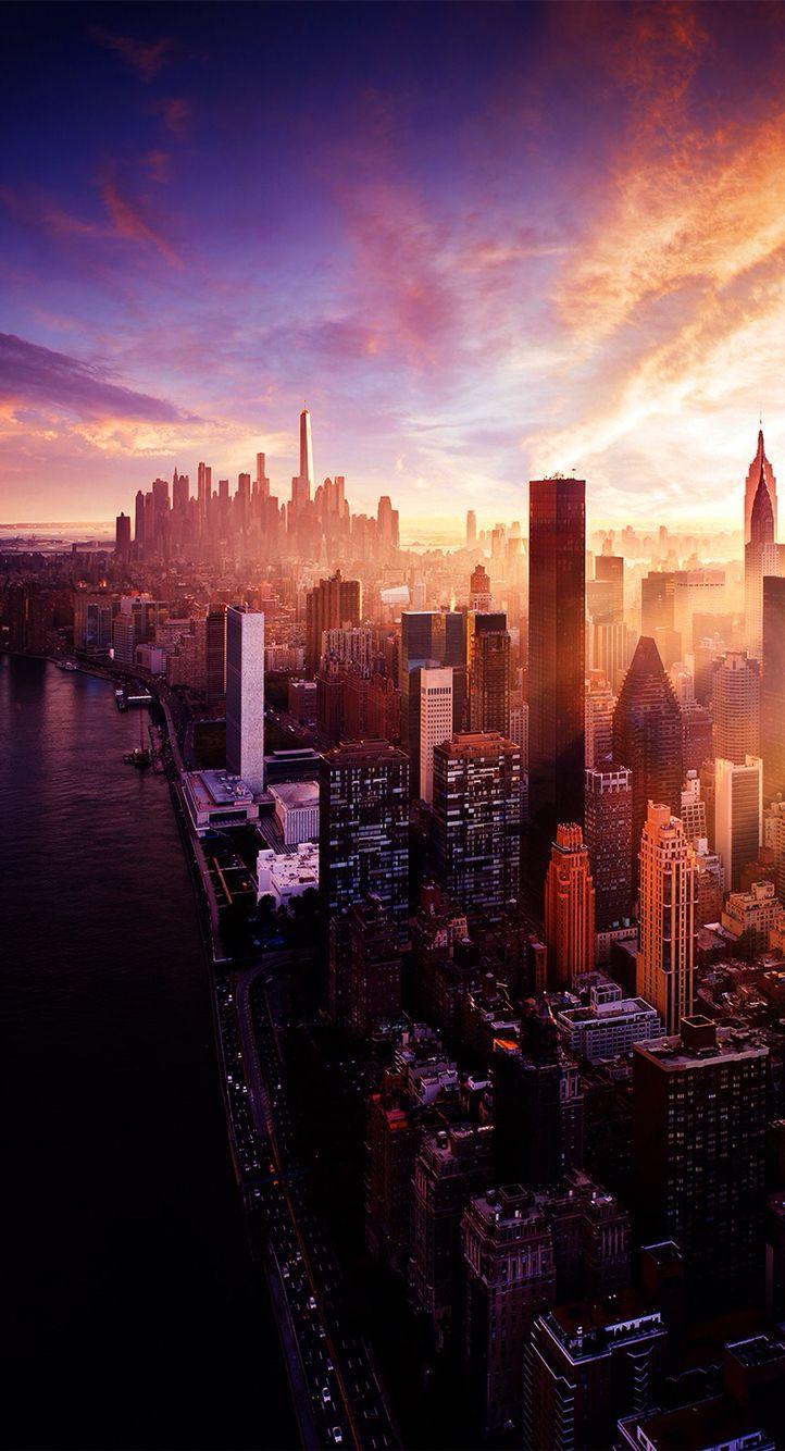 thành phố sáng sớm
