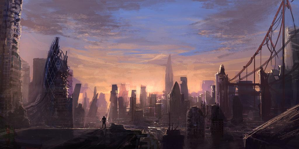 thành phố sụp đổ