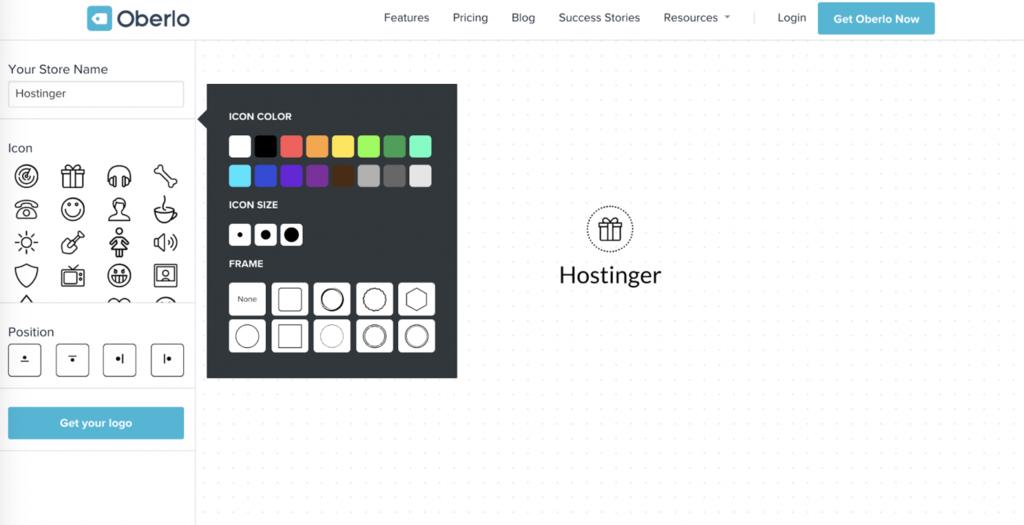 oberlo thiết kế logo online