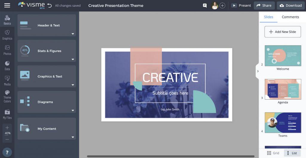 visme thiết kế logo online