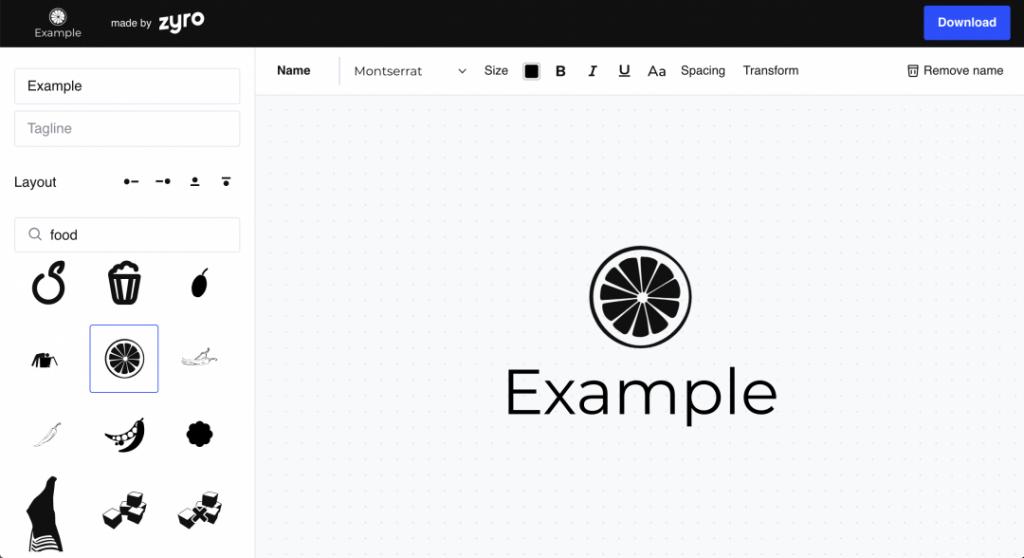 zyro thiết kế logo online