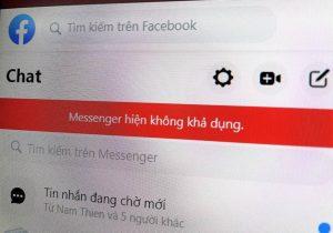 facebook messenger bị lỗi