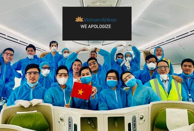 tiếp viên hàng không vietnam airlines đồng loạt gửi lời xin lỗi