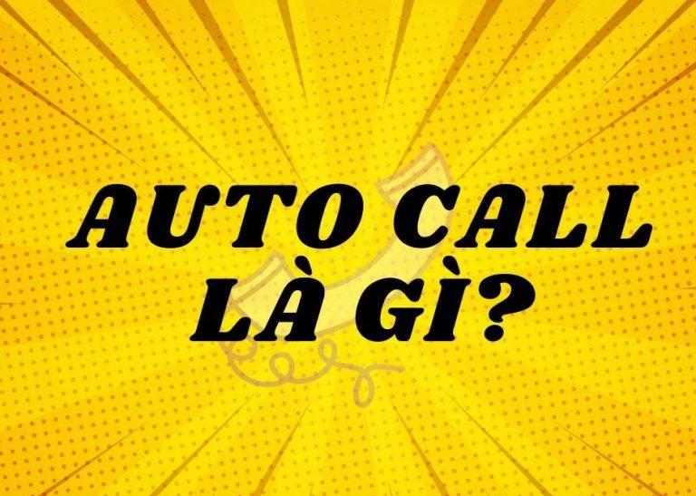 Định nghĩa auto call là gì