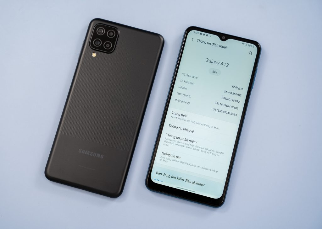 Cấu hình của Samsung Galaxy A12