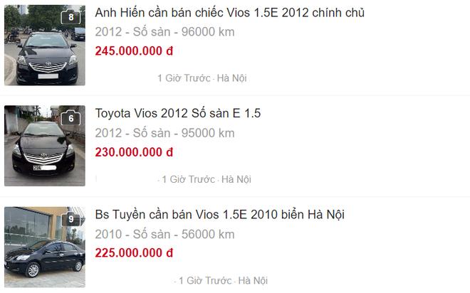 Nhiều mức giá cho Toyota Vios chỉ từ 230 triệu đồng
