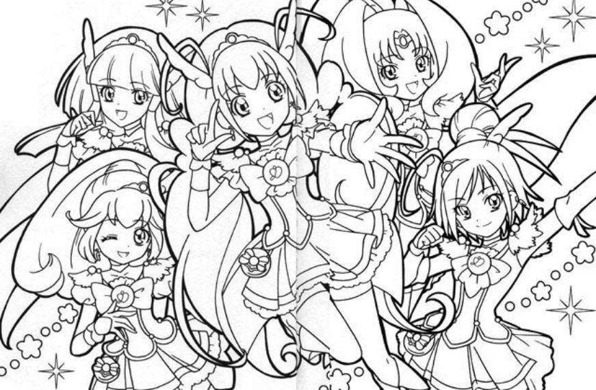 hình anime sakura cho bé tập tô đẹp